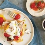 Roasted Cherry Tomato, Chicken and Chèvre Breakfast Sandwich