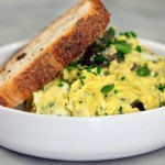 Gently Scrambled Eggs with Wild Vegetables