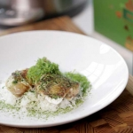 Matcha Chicken with Coconut Milk Steamed Rice